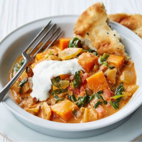 Butternut Squash and Coconut Curry (Medium Spice)