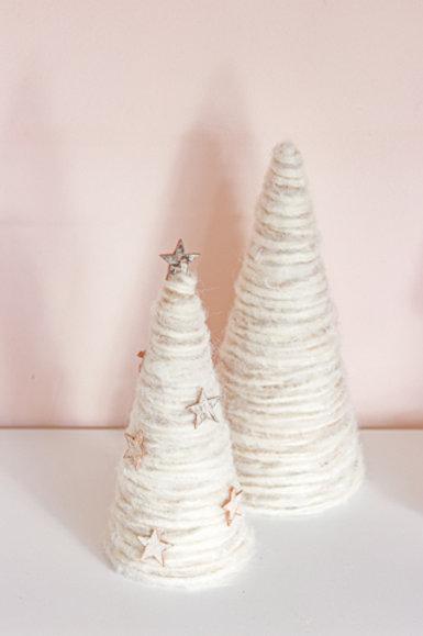 SET of 2 Handmade Minimal Trees