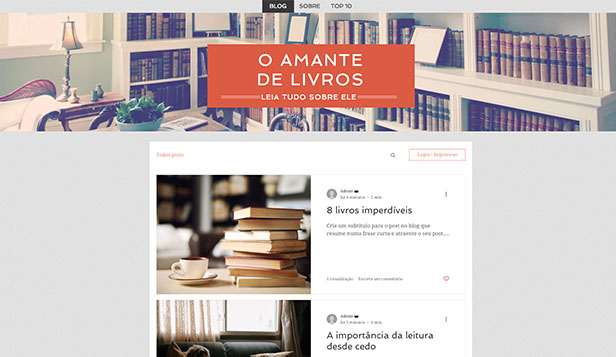 Blogs e Fóruns website templates – Blog de Literatura
