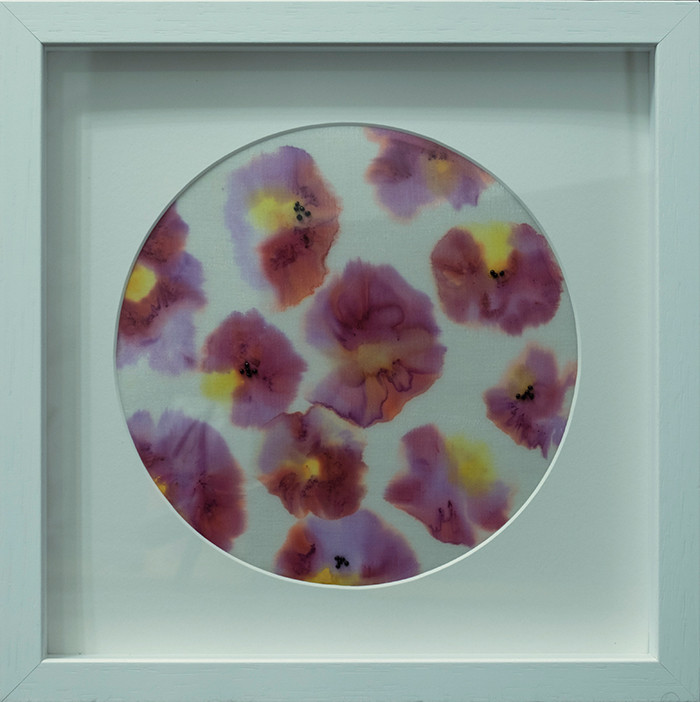 Pansies in a bowl - Silk Painting