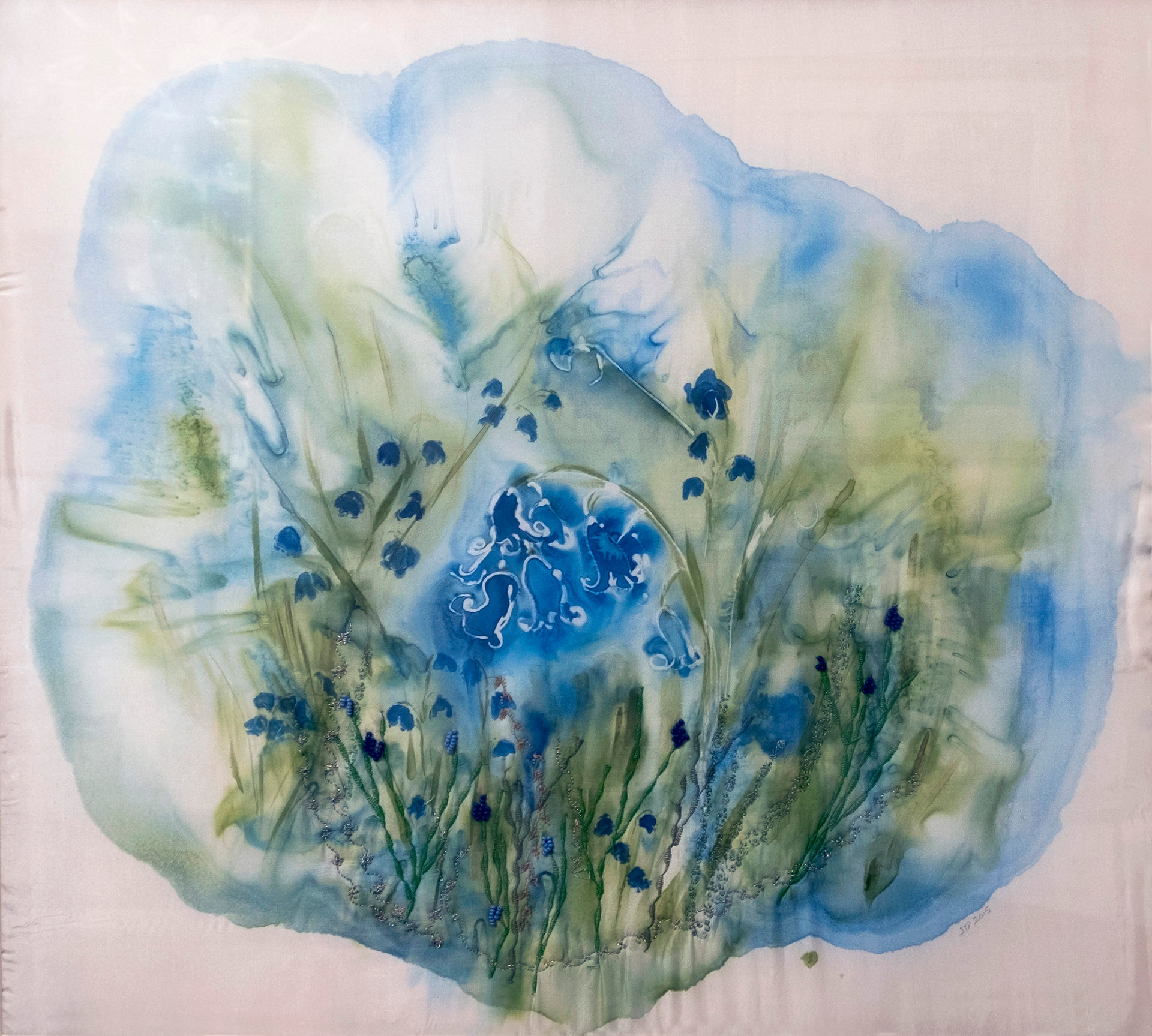 Bluebells - Silk Painting