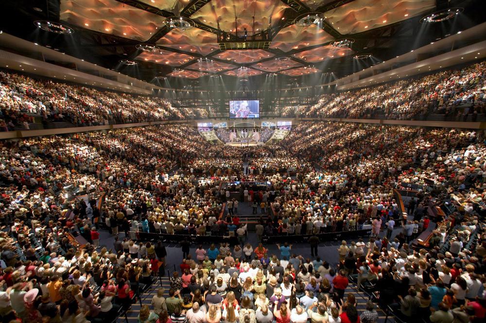 La mégachurch évangélique charismatique de Lakewood Church, à Houston, aux États-Unis - © ToBeDaniel / CC BY via Wikimedia Commons