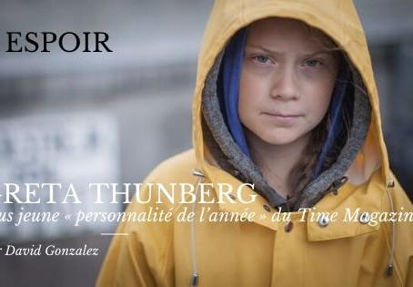 La militante du climat Greta Thunberg plus jeune «personnalité de l'année» du Time magazine