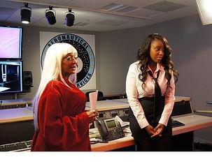 Photo Image Nichelle NIchols and Angelique Fawcette on set Unbelievable The Movie