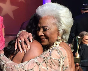 Image Nichelle Nichols and Angelique Fawcette.... more hugs!