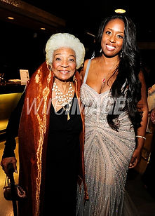 Image Photo Nichelle Nichols and Angelique at Private UNB Premiere - Rights Amy Graves w/Wire Image