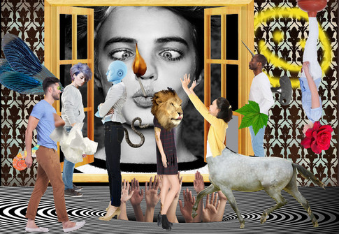 Plastic arts photomontage