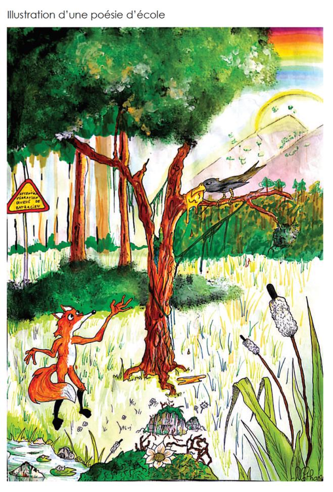Illustration d'une poésie d'école