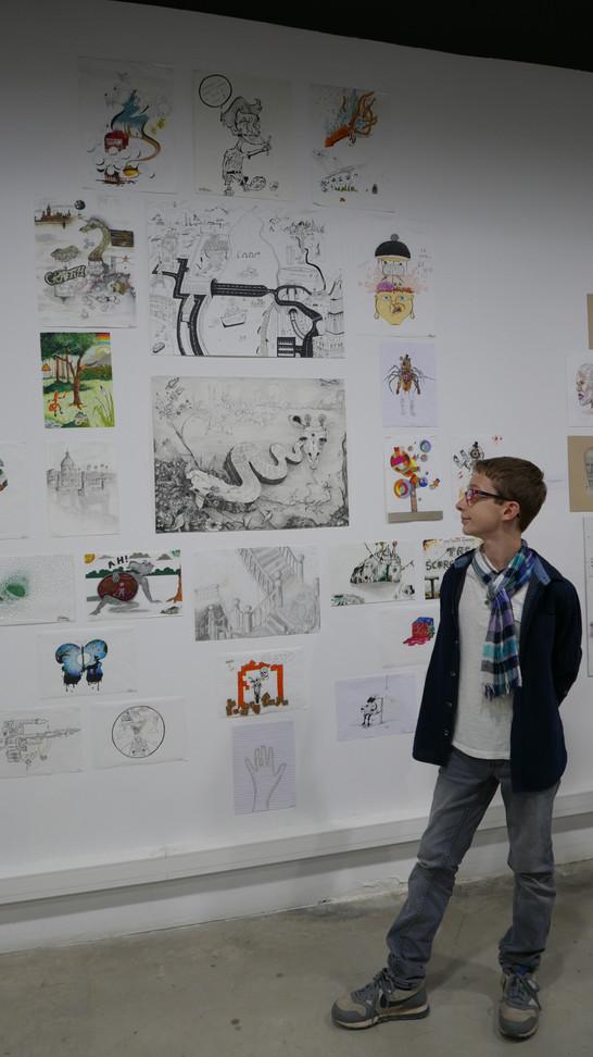Exposition des lauréats au Réservoir à Sète - décembre 2019