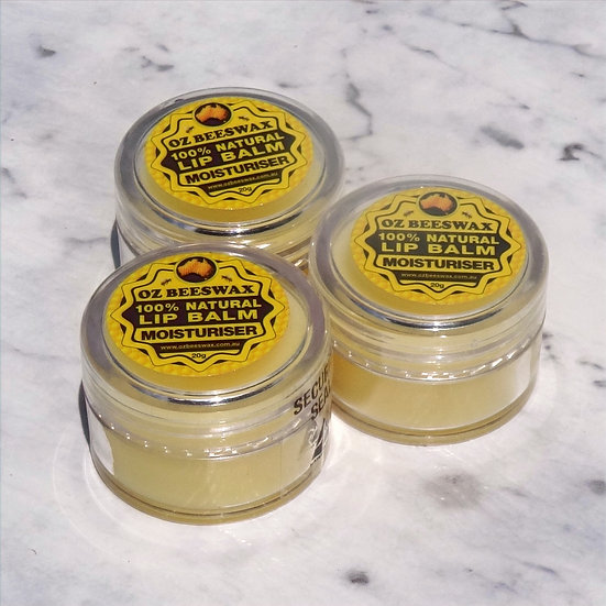 Beeswax Lip Balm Moisturiser - Triple Pack