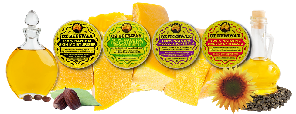 oz beeswax natural skin care products effective relief from ezcema, dry itchy skin, migraines, ageing lines