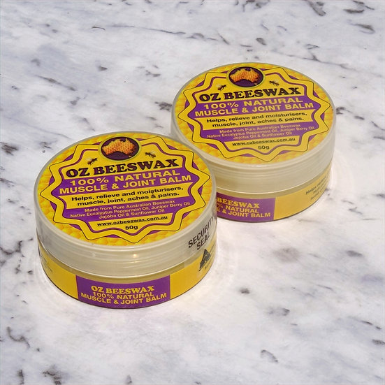 Beeswax Muscle and Joint Balm - Double Pack Lg