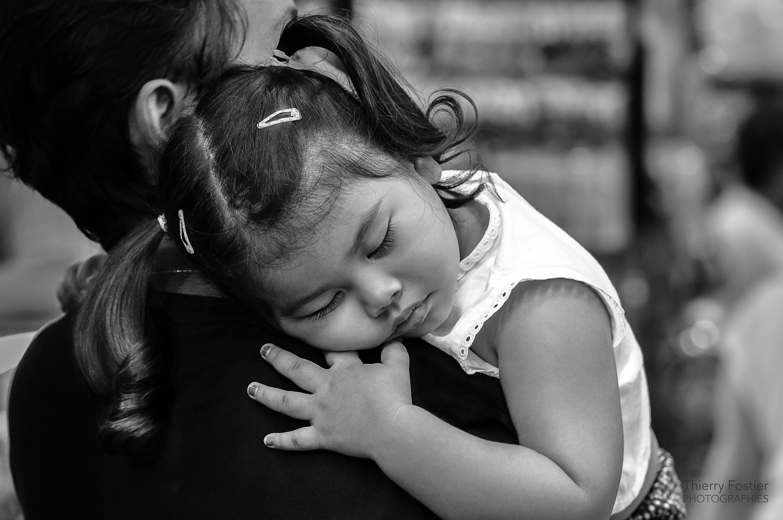 dans les bras de maman