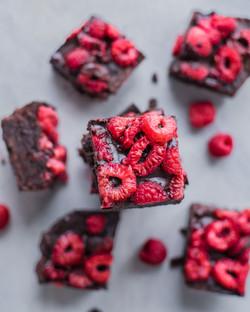 brownies framboises