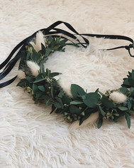 FLORAL CROWN // . It's a one size fits a