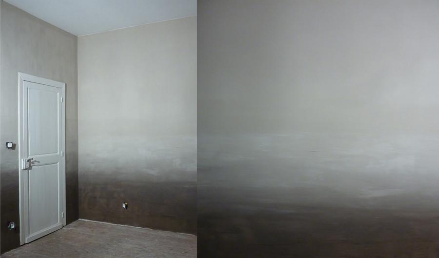 """""""Brumes"""" de la chambre du petit Luc - peinture à l'argile et à l'huile de lin"""