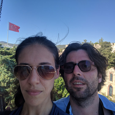 Touring an ancient castle in Bodrum, Turkey 24 hours prior to the 2015 coup.