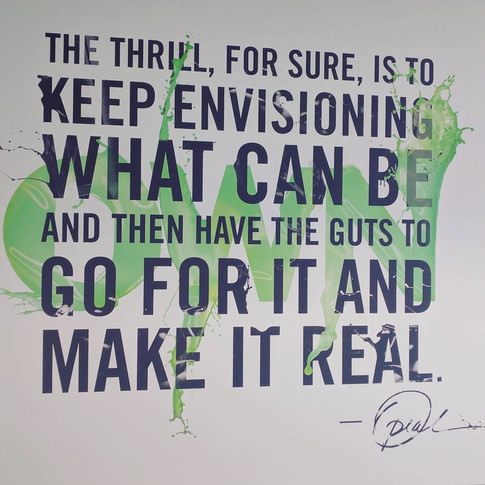 A quote by Oprah, hanging on the conference room wall at OWN, her studios in Los Angeles.