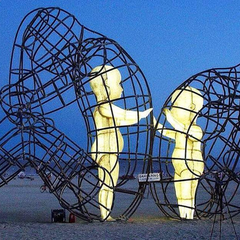"A favorite sculpture from Burning Man - ""Love,"" by Alexandr Milov"
