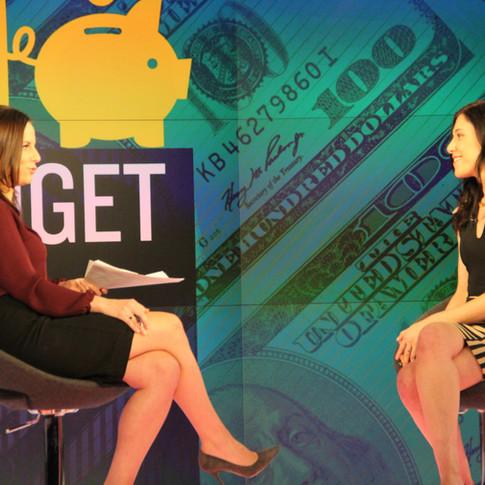 Filming Fusion TV segment with Alicia Menendez.