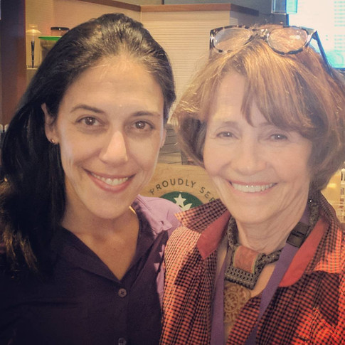 """with Lynne Twist, author of Soul of Money. She called me """"the missing link."""""""