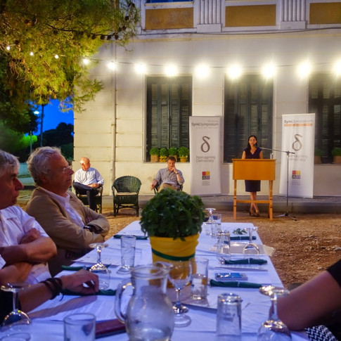 In 2014, I first attended Symi Symposium, an annual gathering of global leaders hosted by former Greek Prime Minister George Papandreou. I was honored when he asked me to keynote that year's closing dinner.