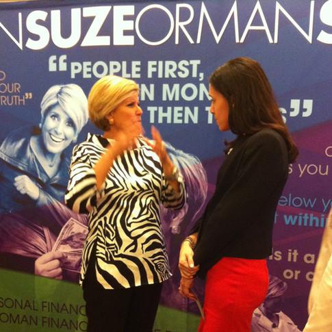 Suze Orman explaining things to me.
