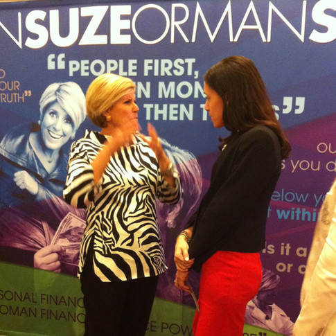 Suze Orman explaining things to me.