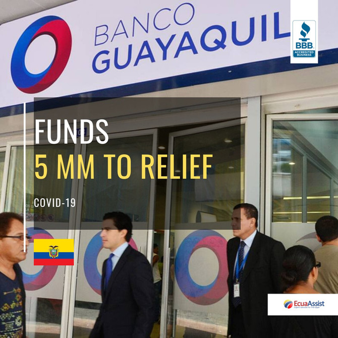 BANCO DE GUAYAQUIL DONATES $5 MILLION FOR COVID-19 EMERGENCY IN ECUADOR