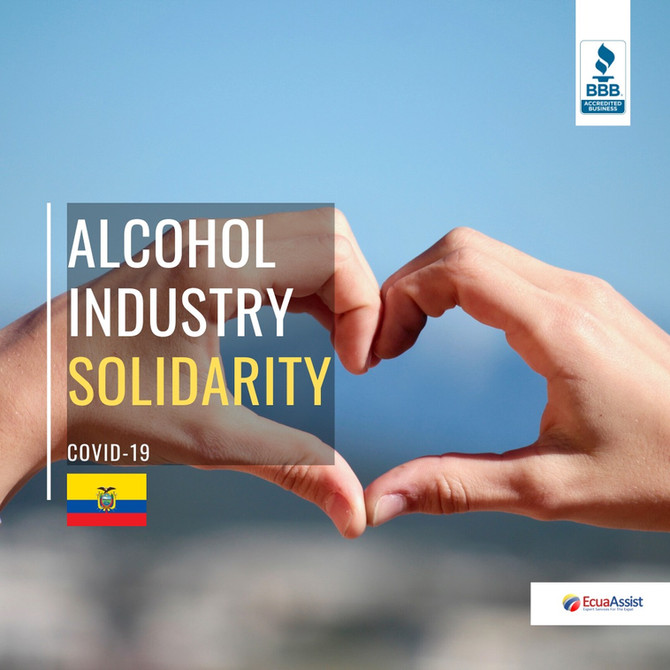 COMPANIES IN ECUADOR WILL STOP PRODUCING LIQUOR AND PAINT TO MAKE ALCOHOL AND ANTIBACTERIAL GEL