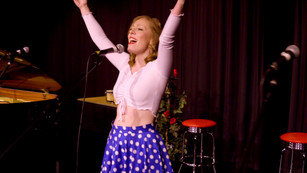 Performing Get Happy at a recent theatre performance