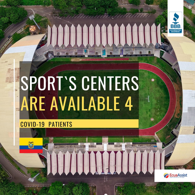 SPORTS CENTERS ARE AVAILABLE FOR COVID-19 PATIENTS