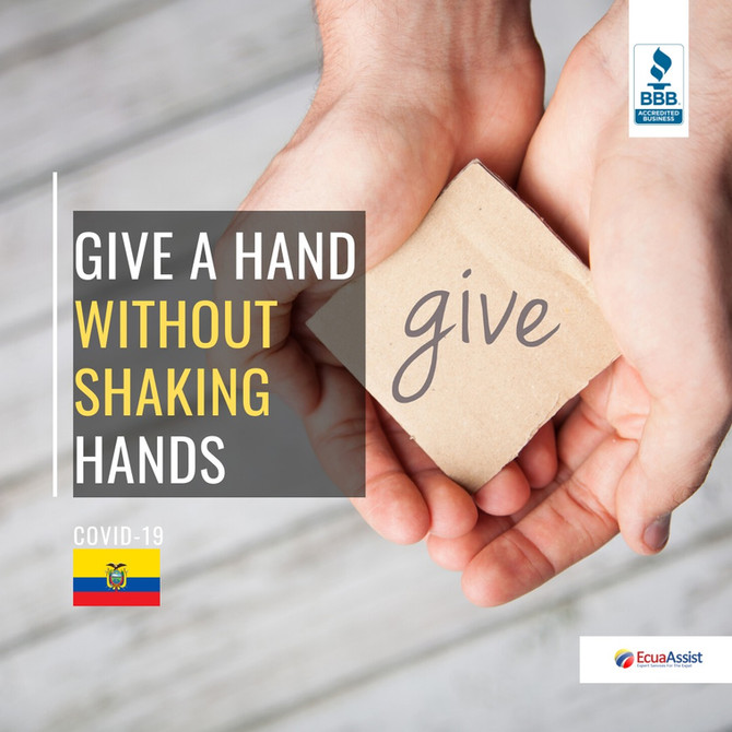 GIVE A HAND, WITHOUT SHAKING HANDS