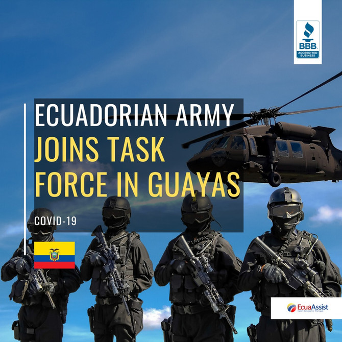 ECUADORIAN ARMY SENDS PROTECTION SUPPLIES TO THE JOINT TASK FORCE