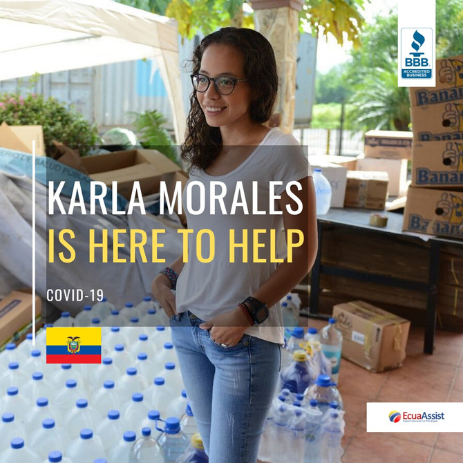 KARLA MORALES DELIVERS BASIC NEED PRODUCTS TO DOCTORS