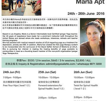Workshop with Marla Apt 24-26 Jun 2016