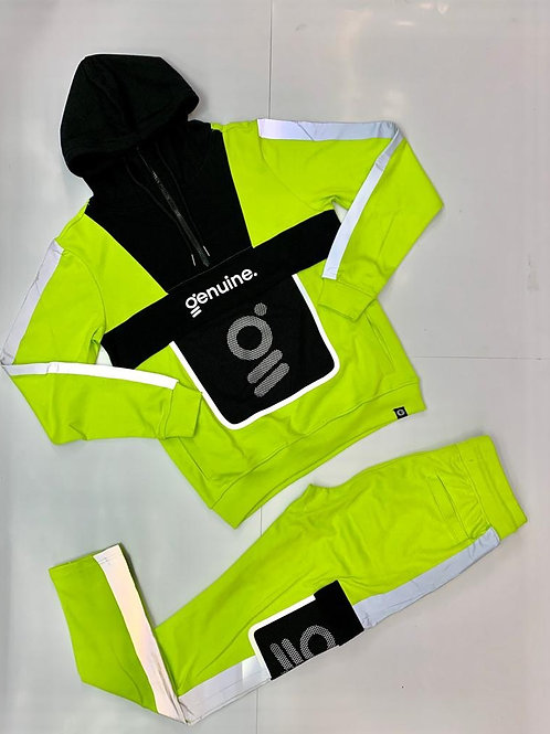Genuine sweat hoodie and sweat pants suit