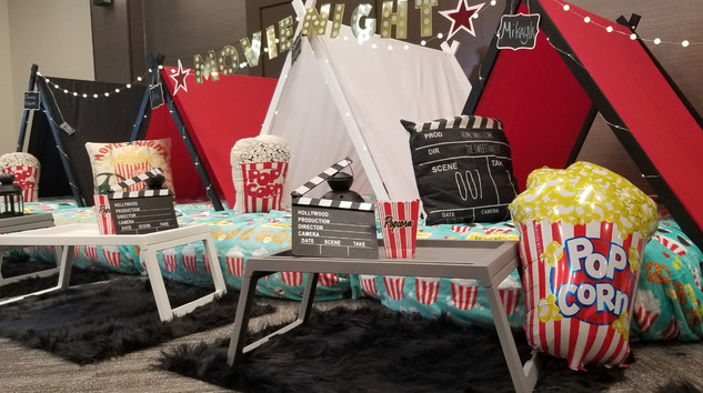 Movie Night Sleepover Theme
