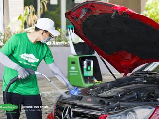 Vệ sinh khoang máy ô tô tận nơi - Dịch vụ vệ sinh xe PowerSteam