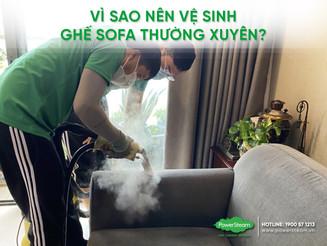 Vệ sinh diệt khuẩn ghế sofa - Dịch vụ vệ sinh tận nơi PowerSteam.