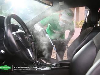 Vệ sinh nội thất ô tô tận nơi - Dịch vụ vệ sinh xe PowerSteam