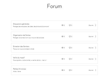 Nouveau sur le site : FORUM !