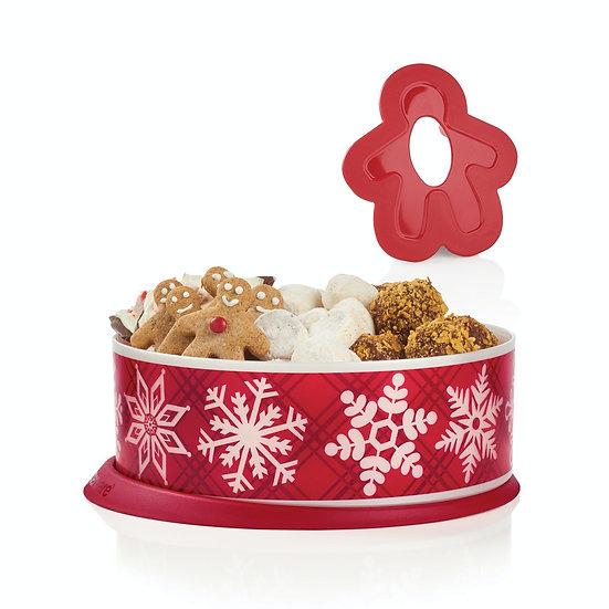 Garde-biscuits festif* PLUS Emporte-pièce Bonhomme Pain d'épices