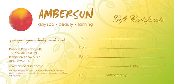 Ambersun Gift Certificate