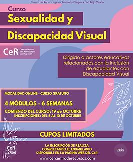AFICHE -Octubre - Sexualidad y Discapaci