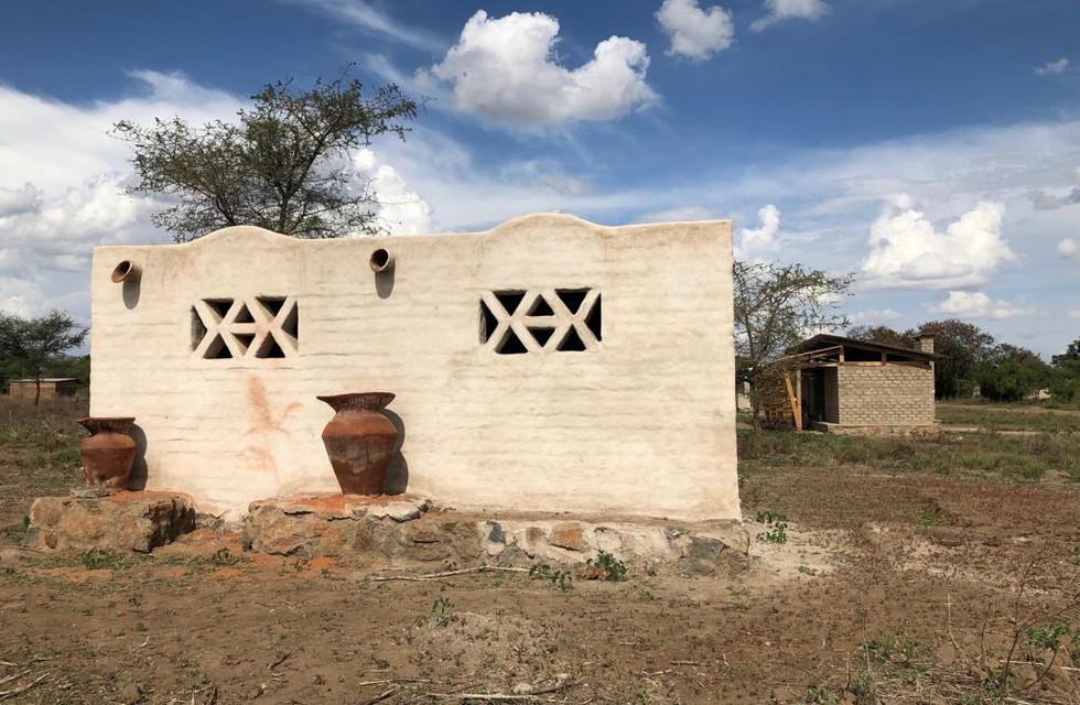Sun Dries earth block house