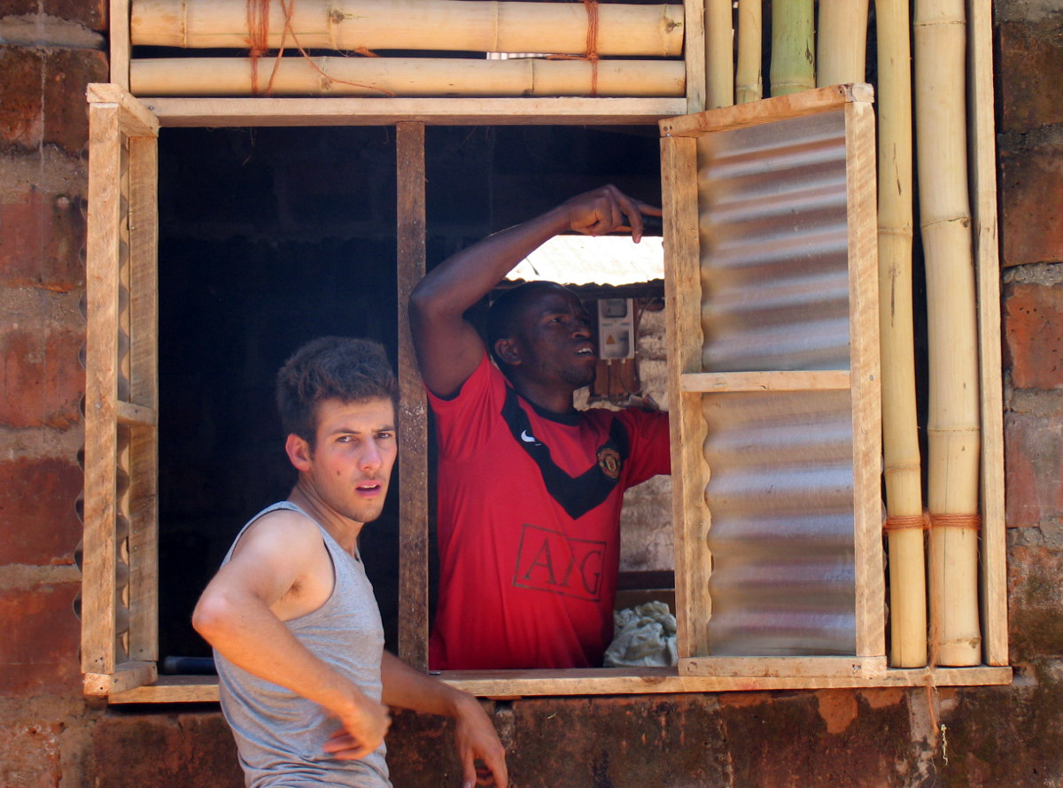 House renovation, Bamboo, Shimbwe