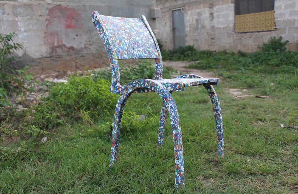 Recycled, Shredded Plastic