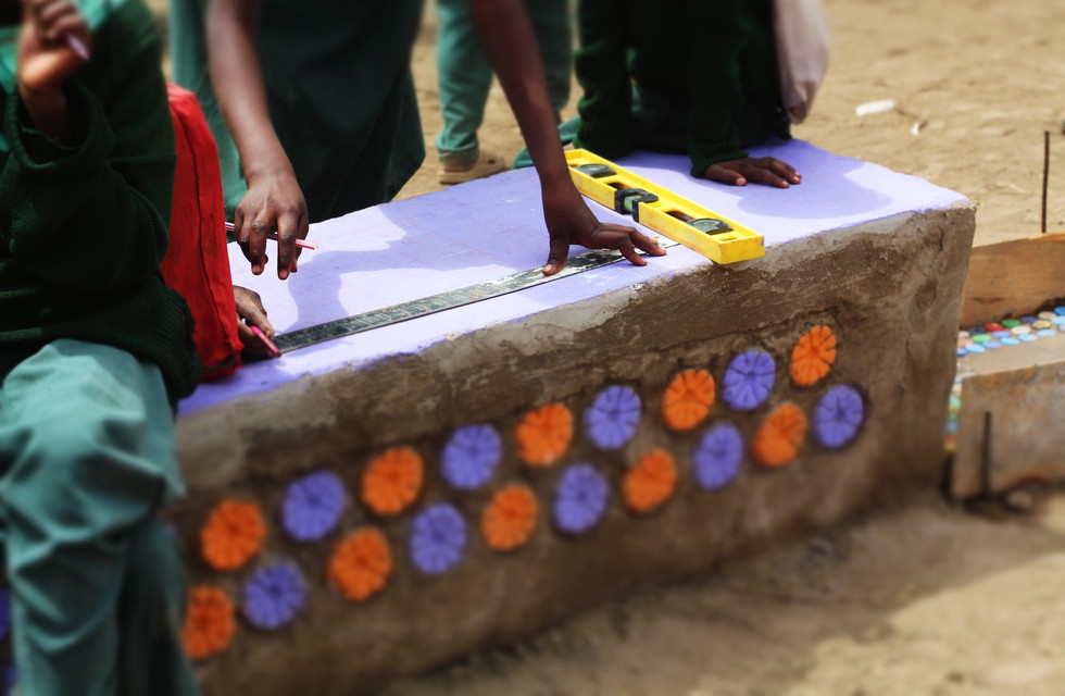 School Playground with upcycled materials