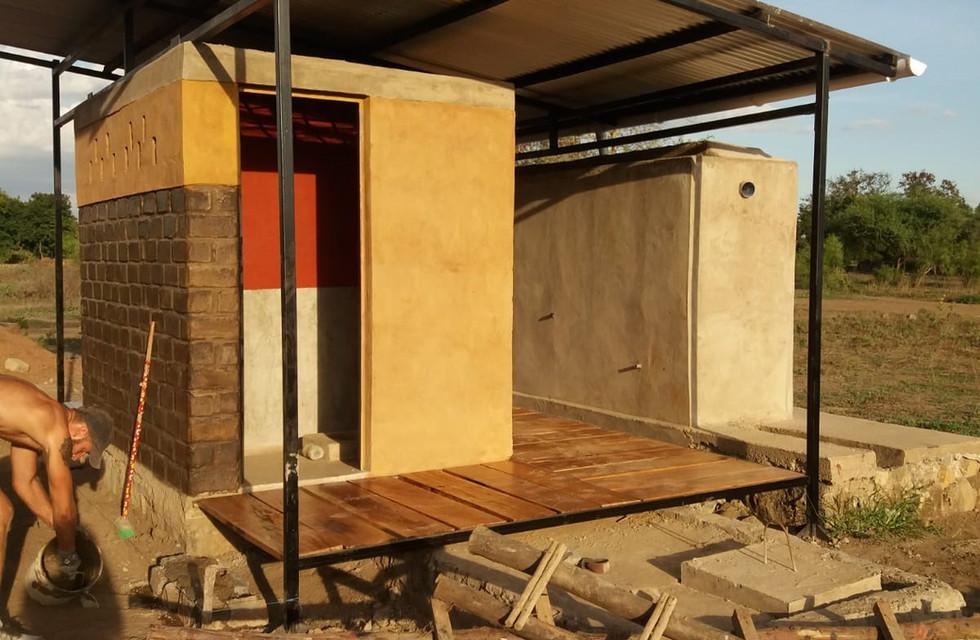 Toilet block (part of dispensary, Maji Moto